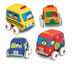 Pull-Back Vehicles Baby and Toddler Toy | Sound & Movement | Melissa and Doug  LOVE this company; pretty much everything is great!