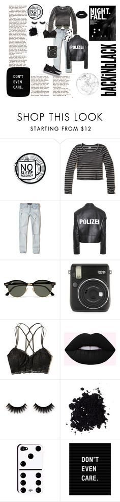 """""""All Black"""" by smiling-sam ❤ liked on Polyvore featuring Hollister Co., Vetements, Ray-Ban, Fuji, Vans, black, Dark and MyStyle"""