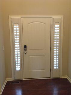 Shutters for door side windows