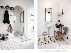 zwart wit scandinavisch interieur / black & white scandinavia interior Laundry Room Bathroom, Scandinavian Style, Living Room, Interior, Furniture, Home Decor, Google, Decoration Home, Indoor