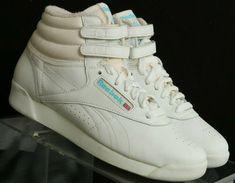 Reebok NEW Vintage Freestyle Hi-Top Athletic Sneakers 2-1619 Women s US 5.5   c32a063c845fd