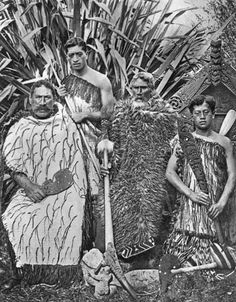 """Anaha Kepa Te Rahui is second from right in this Tourist Department photograph, taken probably after The gentleman from left looks like a young Kepa Ehau Nz History, Polynesian People, Maori People, Workshop Plans, Maori Designs, Maori Art, Kiwiana, Historical Pictures, People Of The World"