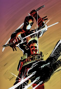 The age old question, who would win in a fight between Wolverine vs Deadpool? Comic Book Characters, Marvel Characters, Comic Character, Comic Books Art, Comic Art, Bd Comics, Marvel Dc Comics, Marvel Heroes, Anime Comics