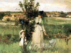 Berthe Morisot (née le 14 janvier 1841 à Bourges - morte le 2 mars 1895 à Paris) était une artiste-peintre française liée au mouvement impressionniste. Avec Camille Pissarro, elle sera la seule artiste dont les tableaux ont été présentés à toutes les expositions impressionnistes