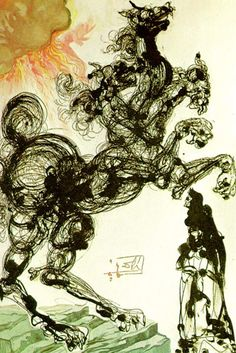 Salvador Dalí's illustrations for Dante's Divine Comedy are absolutely beautiful
