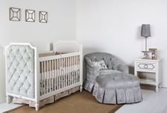 Beverly Tuffed Crib in a nursery setting ...