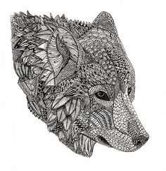 Wolf  This would be a neat tattoo!