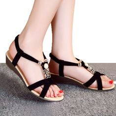 Aliexpress.com : Buy Wedges Sandals Women Shoes Black Ladies ...