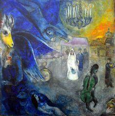 Marc Chagall - Les lumieres du mariage, 1945 at Kunsthaus Zürich - Zurich Switzerland