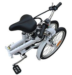 "20"" Light Weight Fast Folding Bike Best Compact Portable Fold-up Bicycle 6-speed White - http://www.bicyclestoredirect.com/20-light-weight-fast-folding-bike-best-compact-portable-fold-up-bicycle-6-speed-white/"