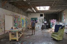 100 Famous Artists And Their Studios - Kenny Scharf