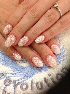 Pastel Bridal Lace by Emmapbrock - Nail Art Gallery nailartgallery.nailsmag.com by Nails Magazine www.nailsmag.com #nailart