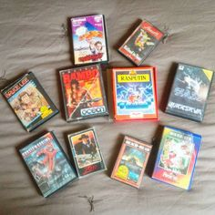 Shared by soph4977 #amstrad #microhobbit (o) http://ift.tt/1Mqsgr5 d'un autre âge  Geek from another age... #Geek #whatcanido #games #computer #prehistoric #old cpc464  #zorro #rasputin #ghostsngoblins #beachhead #rambo  When you find your old games and you remember how many times you had to wait before to play... #sundaycleaning #menagedudimanche
