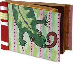 Finished example of Recycled Book Boxes Project