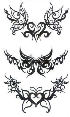 Lower Back Tattoo   Of Temporary Tattoos Butterfly Tribal Back - Free Download Tattoo ...