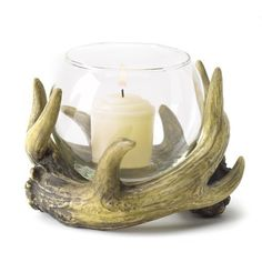 Gifts & Decor Rustic Antler Country Cabin Hunters Lodge Candleholder by Gifts & Decor, http://www.amazon.com/dp/B008YQ4ZLM/ref=cm_sw_r_pi_dp_juMVrb177ZAX8