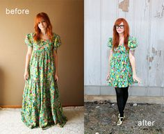 before and after by Skunkboy Creatures., via Flickr #diy #dress