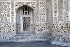 National Geographic Stock Images - 1217886.  A niche and stone inlay on a monument in Agra, India.