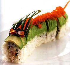 Japanese sushi dragonroll