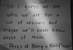 perks of being a wallflower - my favorite book, read it multiple times