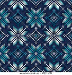 Knitted Sweater Design. Seamless Knitting Pattern