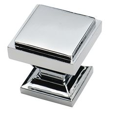 Southern Hills Polished Chrome Square Cabinet Knobs - Pack of 5 - Kitchen Pulls, Chrome Cabinet Hardware, Cupboard Drawer Knobs Cabinet And Drawer Knobs, Cupboard Drawers, Kitchen Cabinet Hardware, Knobs And Handles, Knobs And Pulls, Kitchen Cabinets, Dresser Drawers, Cabinet Doors, Drawer Pulls