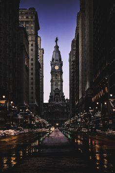motivationsforlife:  Philadelphia Winter Evening by K S // Edited by MFL