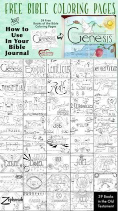39 Free Bible Coloring Page & 3 Ways in Use in Your Bible Journaling!