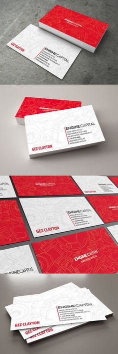 Engine Capital Business Card by Lemongraphic , via Behance