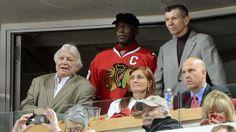 Bobby Hull, Stan Mikita, and Michael Jordan @game 6 2012