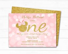 Minnie Mouse Invitation Minnie Mouse Birthday by ThePaperTrailCo