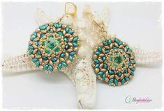DIY Aurora earrings pattern. How to make earrings. by 75marghe75, $8.00