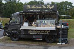 La Maison Du Cafe, Duxford. Citroen H Van come mobile cafe. Great display case.
