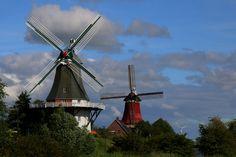 Windmills in Greetsiel, Germany   Flickr - Photo Sharing!