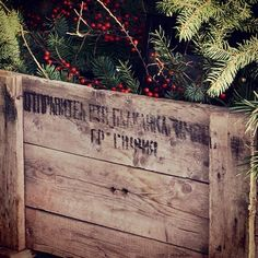 Advent box decor