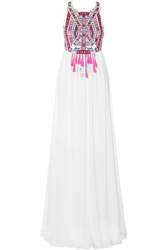 Mara Hoffman|Embroidered voile maxi dress|