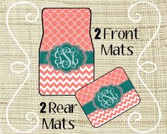 Custom Personalized Set of Car Floor Mats  by LittleGoddessBtq, $44.99