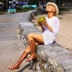 Wear these gladiator sandals with a sundress and a fedora hat for the perfect summer style.