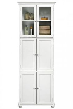 Hampton Bay 6-Door Tall Cabinet Store Toiletries and Towels in This Elegant Linen Cabinet $329