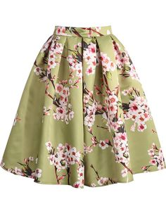 Shop Green Floral Pleated Skirt online. SheIn offers Green Floral Pleated Skirt & more to fit your fashionable needs.