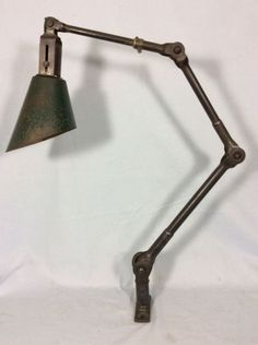 DUGDILLS VINTAGE INDUSTRIAL BENCH LAMP / FACTORY MACHINISTS LAMP in Antiques, Antique Furniture, Lamps | eBay Industrial Bench, Vintage Industrial Lighting, Desk Lamp, Table Lamp, Antique Lamps, Ham Radio, Steel, Ebay, The Originals