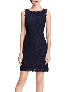 Berydress Womens Sheath Bodycon Pencil Lace Dress Short US6 Navy -- Want to know more, click on the image. (Note:Amazon affiliate link)