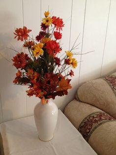 Tall fall flower arrangement | JAFlowersandDesigns - Floral on ArtFire