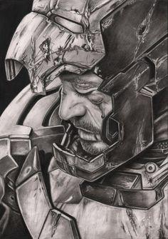 Robert Downey JR 'Iron Man 3' graphite drawing by Pen-Tacular-Artist on deviantART