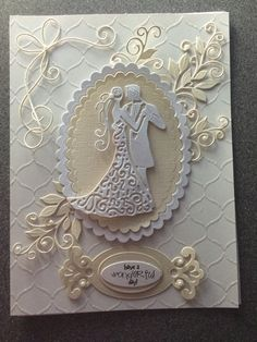 Wedding card tattered lace