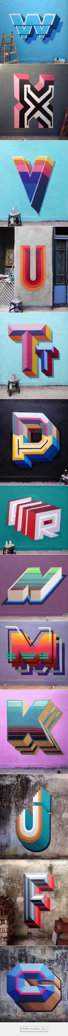 Colorful 3D Typography Mural – Fubiz Media - created via https://pinthemall.net