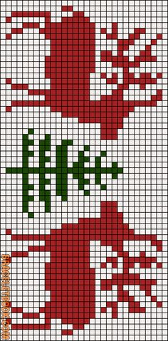 Projects Christmas Learn how to tie your own friendship bracelets! _____ _____ _____ _____ _____ _____ _____ Friendship bracelet pattern 11895 by Racoon Christmas Embroidery, Christmas Knitting, Christmas Cross, Xmas, Christmas Deer, Filet Crochet, Crochet Chart, Crochet Rope, Bead Crochet