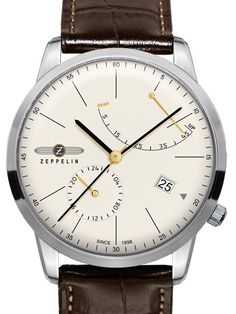 Graf Zeppelin Flatline Automatic Watch with Power Reserve #7366-5