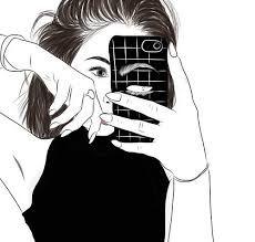 Imagen de outline, art, and drawing Tumblr Girl Drawing, Tumblr Drawings, Tumblr Art, Tumblr Girls, Tumblr Outline, Outline Art, Outline Drawings, Cool Drawings, Image Tumblr