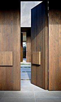 Entrance doors Look inside the entrance porch of the posh Melbourne home Modern Entrance Door, Modern Door, House Entrance, Entrance Doors, Contemporary Doors, Doorway, Contemporary Design, Wooden Front Doors, The Doors